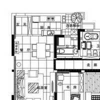 二室一門廳舊房裝修設計