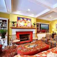 田园客厅沙发窗帘装修效果图