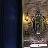 现代别墅灰色瓷砖卫生间装修效果图