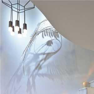 三米田园风格复式富裕型厨房灯具效果图