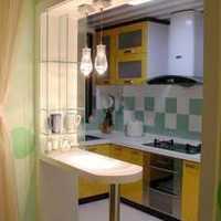 厨房橱柜白色灯具装修效果图