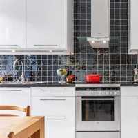 瓷砖背景墙厨房橱柜壁柜门装修效果图