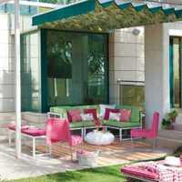 现代别墅浓情典雅型庭院装修效果图