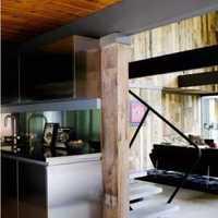 现代小户型厨房浅绿色瓷砖装修效果图
