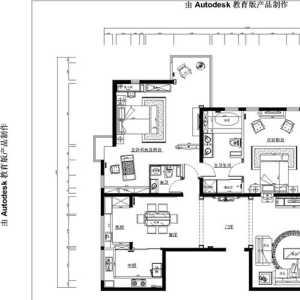 100平米三室一厅装潢报价单