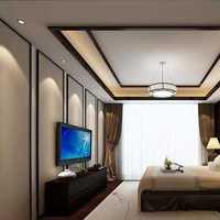 卧室吊顶头柜卧室窗帘卧室装修效果图