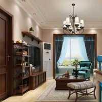 清新蓝色125房屋平米装修效果图