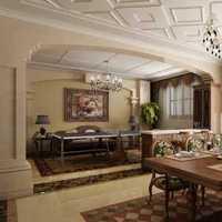 大戶型餐桌餐椅尊貴的美式風格餐廳效果圖