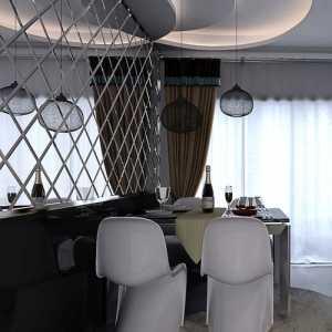田园风格整体餐厅吊顶效果图
