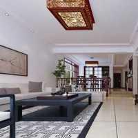 深色地板搭配棕色皮沙发装修效果图