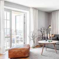 茶几客厅窗帘三居客厅吊顶装修效果图