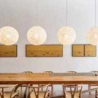 北欧实木餐桌餐厅茶几装修效果图