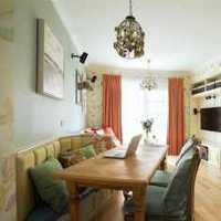 欧式别墅古典木质圆桌餐厅装修效果图