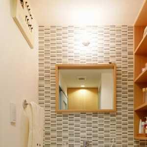 一居室现代简约公寓卫生间原木色