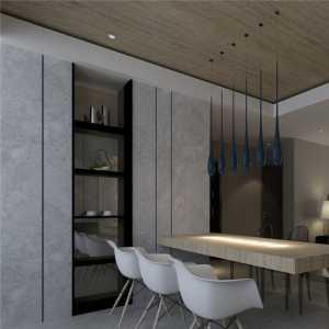 房子装修风格效果图客厅书架墙