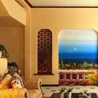 现代家居100坪客厅装修效果图