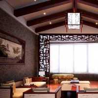 现代田园风阁楼客厅墙面装修效果图