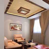 美式客厅地毯布装修效果图