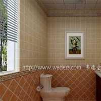 卫生间吊灯浴缸简约装修效果图