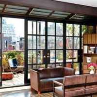 豪华型客厅梦幻窗帘装修效果图