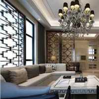 别墅黑色皮质沙发客厅装修效果图