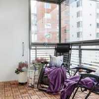 现代三居室无框阳台装修效果图
