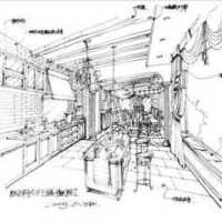 新古典别墅清新淡雅厨房装修效果图