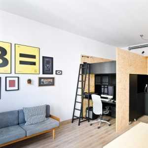 40平开间装修效果图红砖