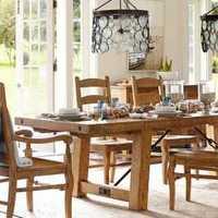 现代回归自然别墅家庭餐厅装修效果图