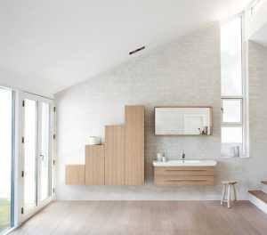 現代簡約中式復式衛浴裝修效果圖