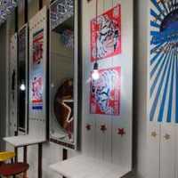 美式别墅窗帘书房装修效果图