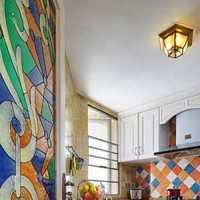现代别墅明亮梦幻式厨房装修效果图