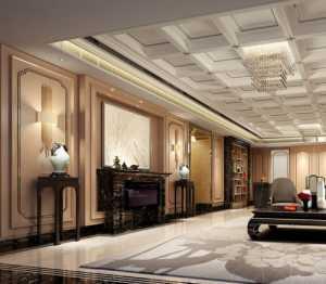 中式家居装修客厅样板房效果图