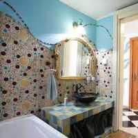 现代美式卫生间瓷砖色彩装修效果图