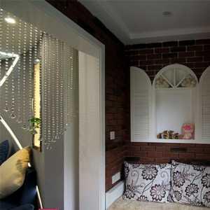 簡歐風格五居室衛生間窗簾效果圖