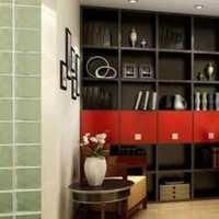 富裕型书房书架一居室装修效果图