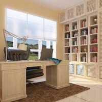 家里装修想定制书柜书房书柜是开放好还是带门好