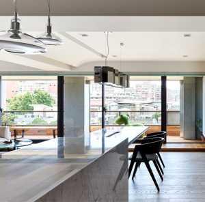 台北黑白色开放式家居设计