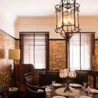别墅厨房美式餐厅背景墙装修效果图