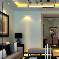 现代客厅三居吊灯装修效果图