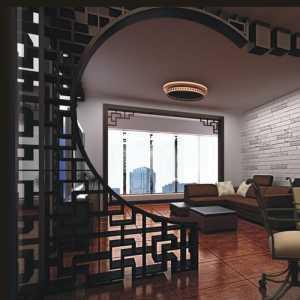 别墅室内长圆形吊顶装修效果图