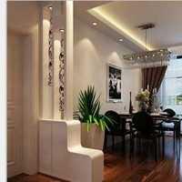 现代别墅起居室网状墙面装修效果图