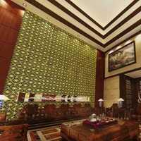 现代中式挑高客厅装修效果图