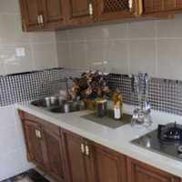 厨房粉色背景墙简欧别墅装修效果图