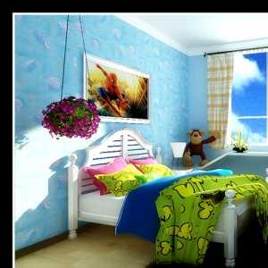 蓝色的天空 丽景天成温馨儿童房