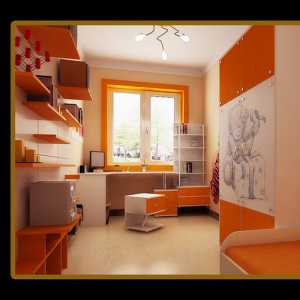 橙色简约风格儿童房