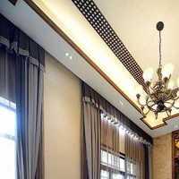 白色富裕型灯具中式装修效果图