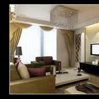 90平米小清新客厅美式装修效果图