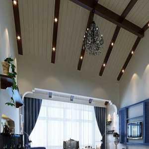 美式家庭客厅装修效果图