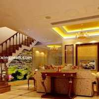 欧式别墅客厅温馨装修效果图